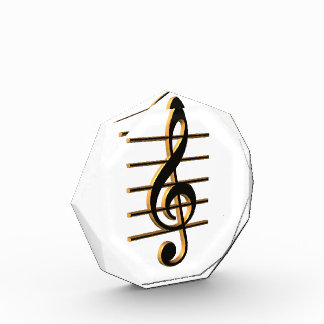 G-cleff music symbol paperweight awards