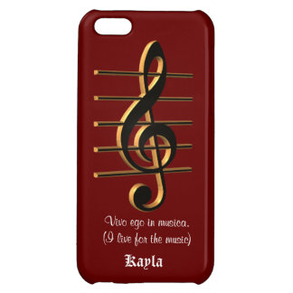 G cleff music Vivo ego in musica iPhone case Cover For iPhone 5C