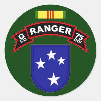 G Co, 75.o regimiento de infantería - Pegatina Redonda