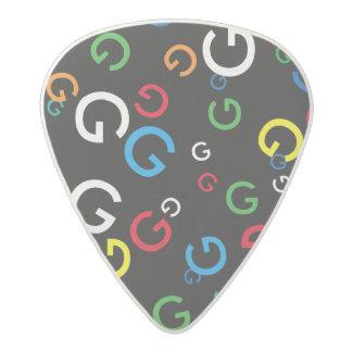 G custom letter for guitarists acetal guitar pick