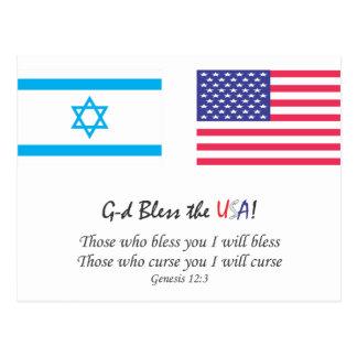 G-d bendice los E.E.U.U. Postales