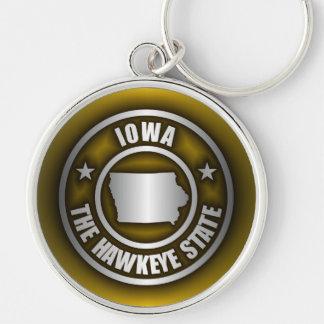 """(G) de acero de los llaveros de """"Iowa"""""""