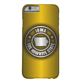 """(G) de acero del caso del iPhone 6 de """"Iowa"""" Funda Barely There iPhone 6"""