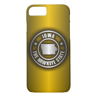 """(G) de acero del caso del iPhone 7 de """"Iowa"""" Funda iPhone 7"""