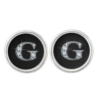 "G ""Diamond Bling"" Cufflinks"