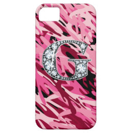 """G"" Diamond Bling iPhone 5 ""Barely There"" Case"