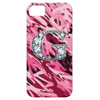"""""""G"""" Diamond Bling iPhone 5 """"Barely There"""" Case"""