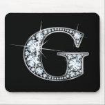 """&quot;G&quot; Diamond Bling Mousepad<br><div class=""""desc"""">Beautiful diamonds set into a silver letter &quot;G.&quot;</div>"""