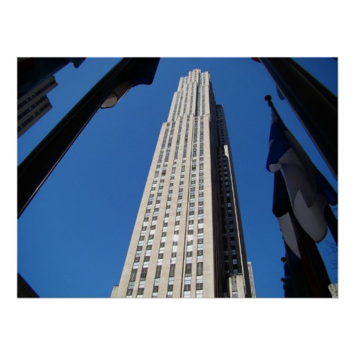 G E Building New York City Poster FROM 8.99