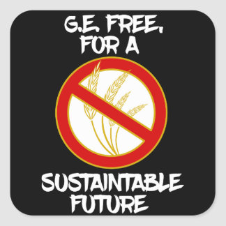 G.E. free for a sustainable future Square Sticker