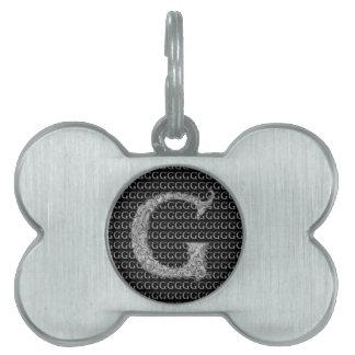 G - El alfabeto de Falck (plateado) Placa De Mascota