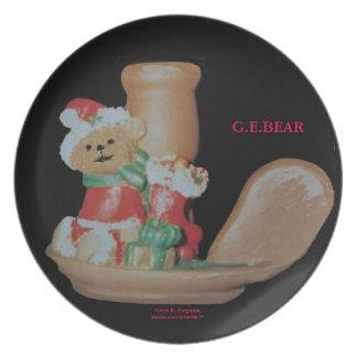 G.ELF SISTER BEAR 10 KY.BG VALLEY CHRISTMAS PLATE