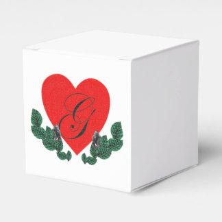 G en un corazón (personalizable) caja para regalos