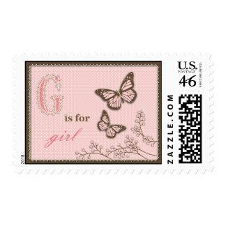 G está para el sello del chica