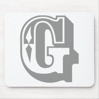 """""""G"""" está para Gangsta - camiseta de la letra del a Alfombrillas De Raton"""