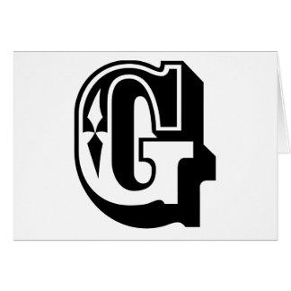 """""""G"""" está para Gangsta - camiseta de la letra del a Tarjeta De Felicitación"""