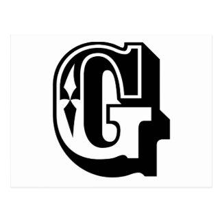 """""""G"""" está para Gangsta - camiseta de la letra del Tarjeta Postal"""