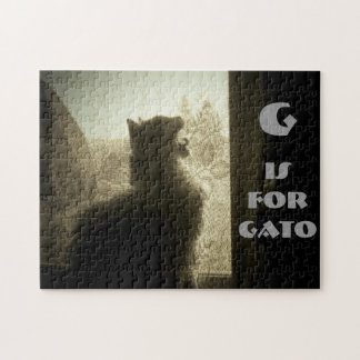 G está para Gato Rompecabezas