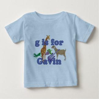 G está para Gavin Playera De Bebé