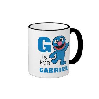 G está para Grover Taza De Dos Colores
