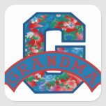 G está para la abuela pegatina cuadrada