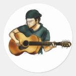 G está para la guitarra etiquetas redondas