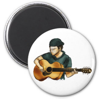 G está para la guitarra imán redondo 5 cm