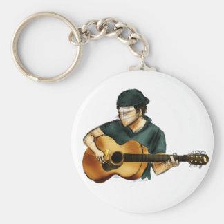 G está para la guitarra llavero personalizado