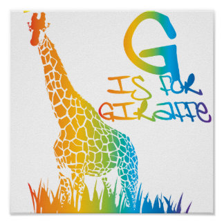 G está para la jirafa posters