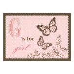 G está para la tarjeta 2 del chica TY Anuncio