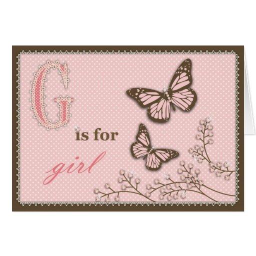 G está para la tarjeta del chica TY