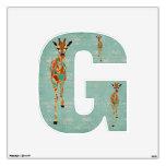 G está para las jirafas