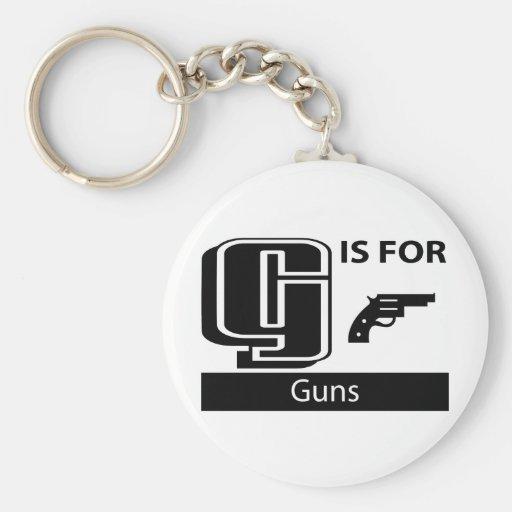 G está para los armas llaveros personalizados