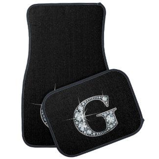 "G Faux-""Diamond"" Monogram Car Mat"