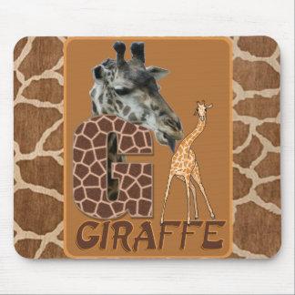 G FOR GIRAFFE MOUSE PAD