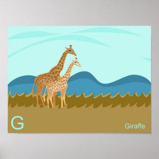 G for giraffe Poster