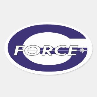 G Force Navy Oval Sticker