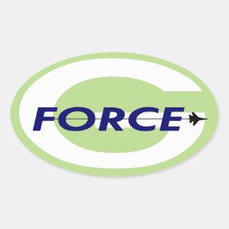 G Force Oval Sticker