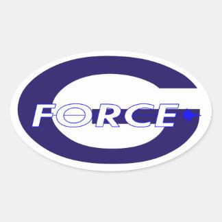 G Force Royal Navy Oval Sticker