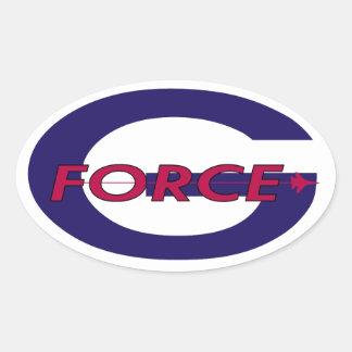 G Force Sol Oval Sticker