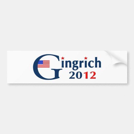 G / Gingrich 2012 (v104) Bumper Stickers