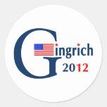 G / Gingrich 2012 (v104) Round Stickers