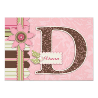 G Girl Invitation Card D