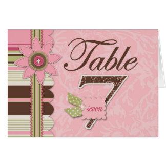 G Girl Table Card 7