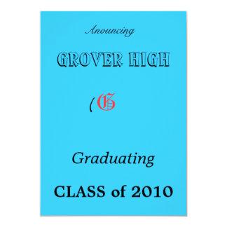G, GROVER HIGH, CLASS of 2010, (, Anouncing, Gr... Card