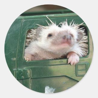 G.I. Hedgehog Round Stickers
