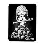G.I. Poe - A Real Zombie Hero - Magnet