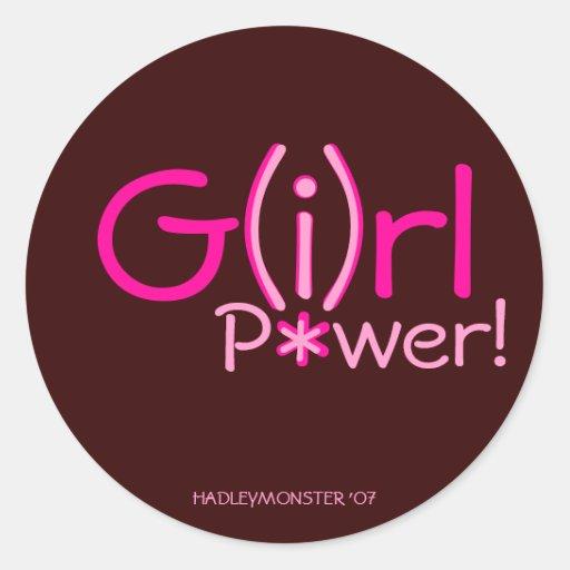 G(i)rl P*wer! Classic Round Sticker