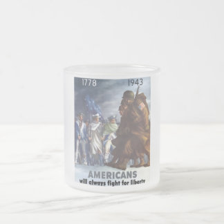 G.I.s and Minutemen 10 Oz Frosted Glass Coffee Mug