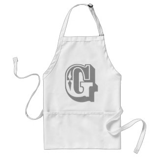 """""""G"""" is for Gangsta - Alphabet Letter Tee Adult Apron"""
